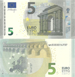5 Euro 2013. Interesting serial number