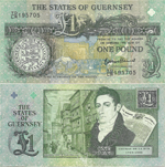 1 Pound Sterling 2013. 200th anniversary of Tomas de la Rue first commercial venture