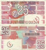 25 Gulden 1989. Roodborstje (The European robin)
