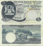 5 Pounds Sterling 1969