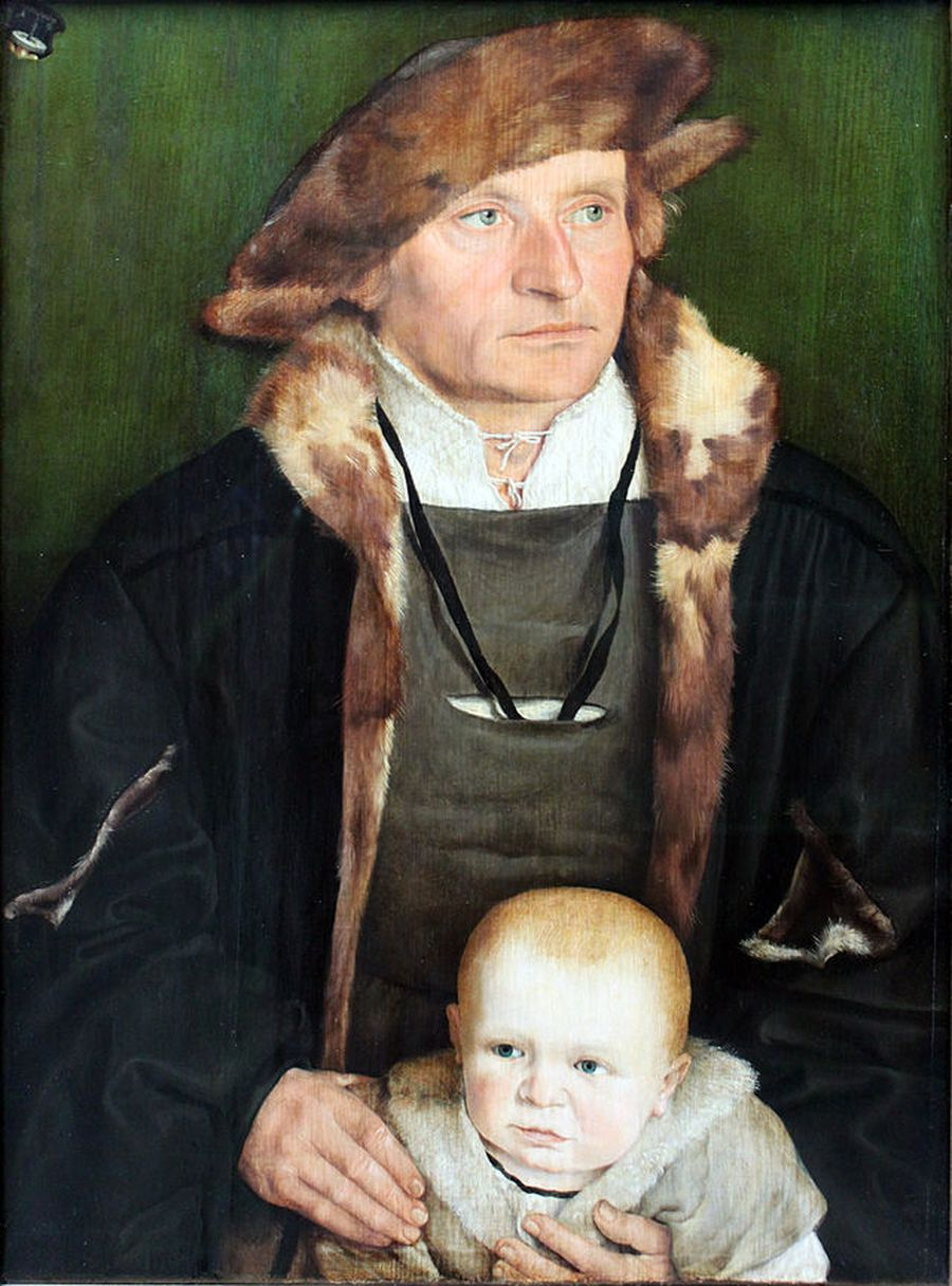 Hans Urmiller with his son
