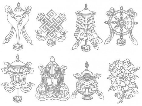 8 symbols of Budda