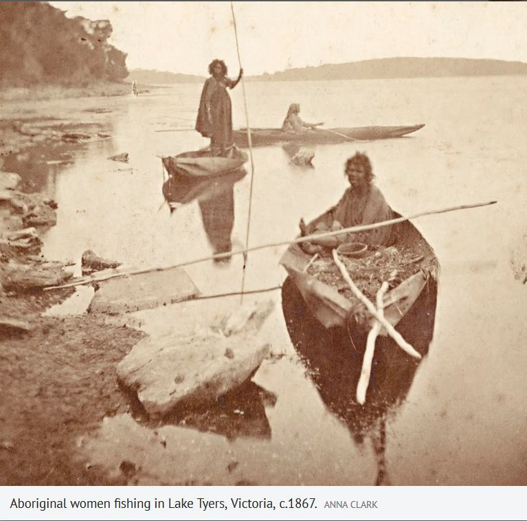 Aboriginal women fishing