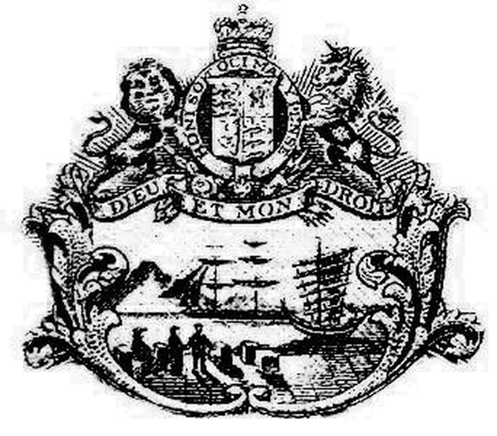 The colonial badge of Hong Kong