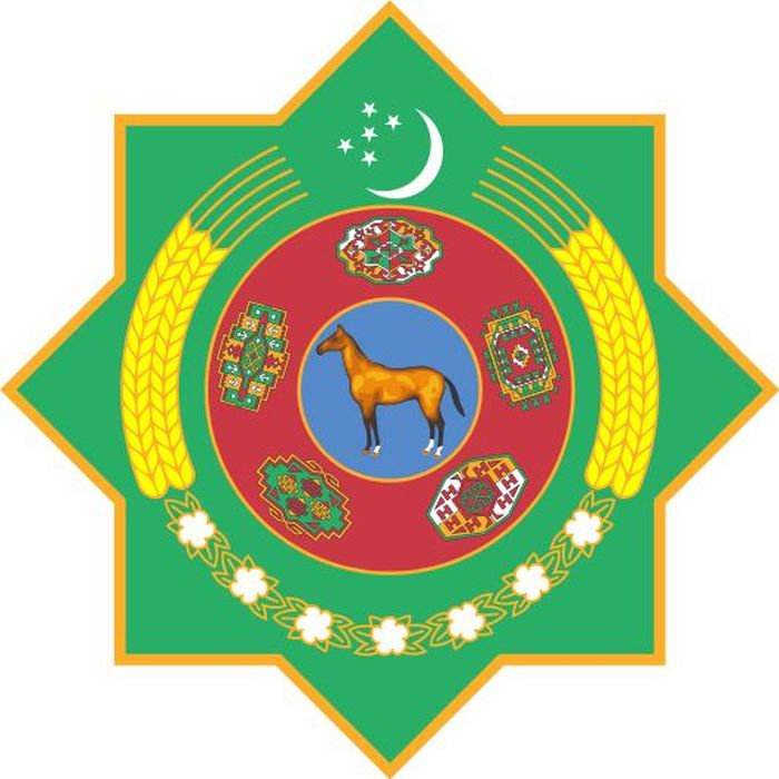 The State Emblem of Turkmenistan