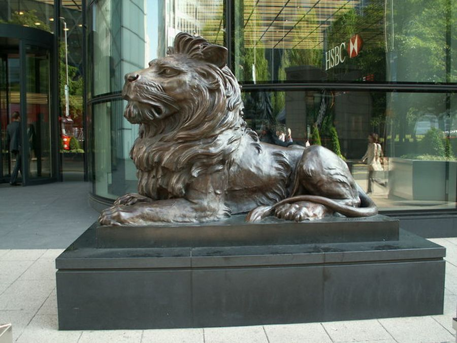The Hongkong and Shanghai Banking Corporation lion