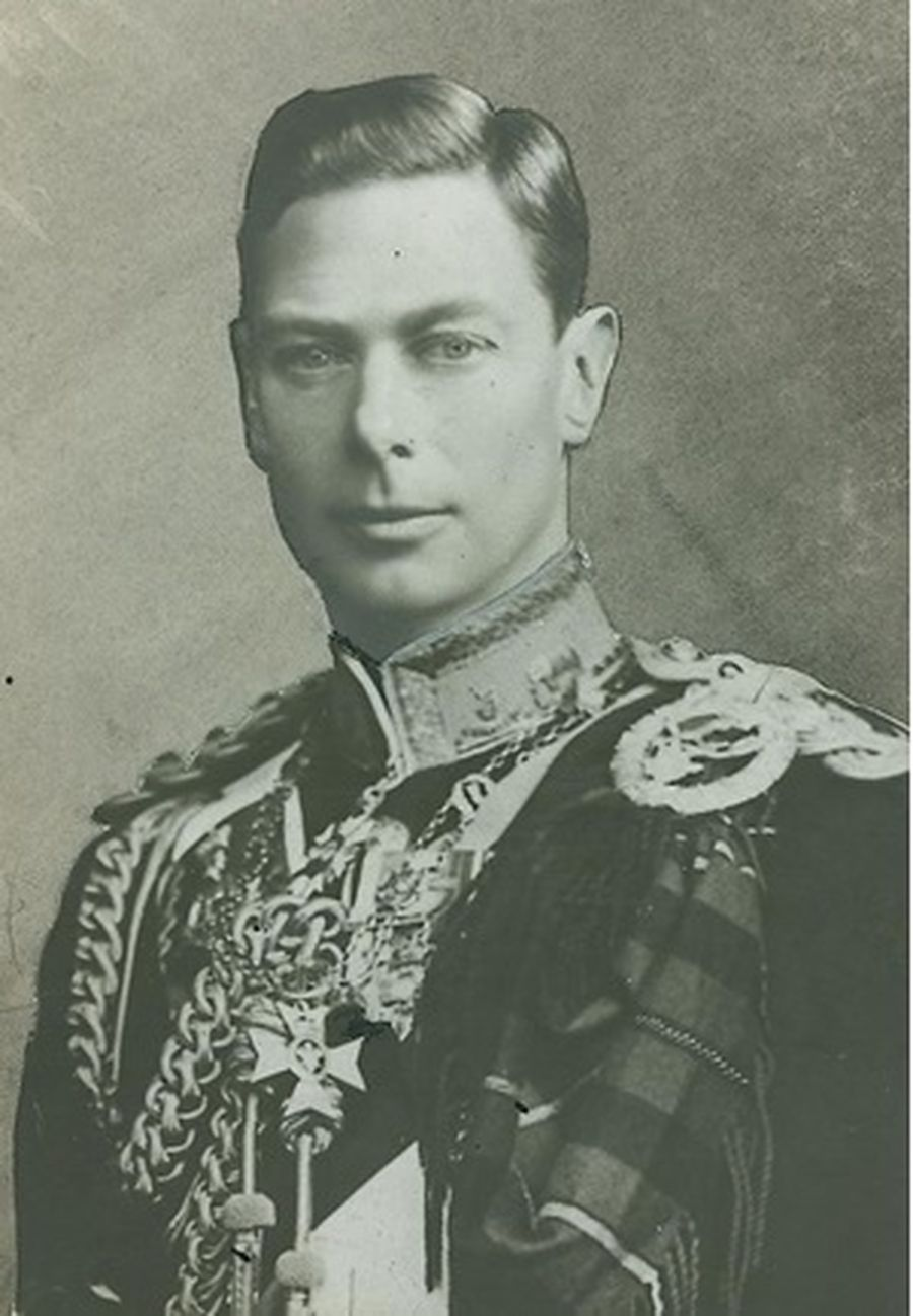 Photographic collage of King George VI, 1936