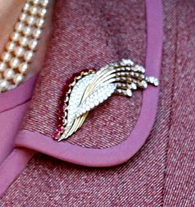 The Modern Ruby Brooch