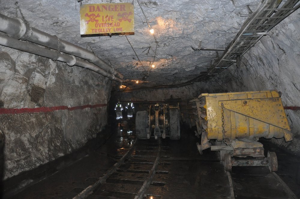 Gold mining in Zambia
