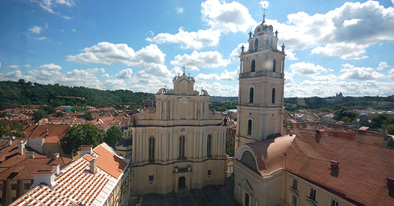 Church of St. Johns, Vilnius with belfry