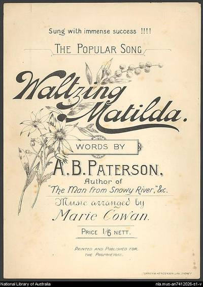 Cover of Waltzing Matilda