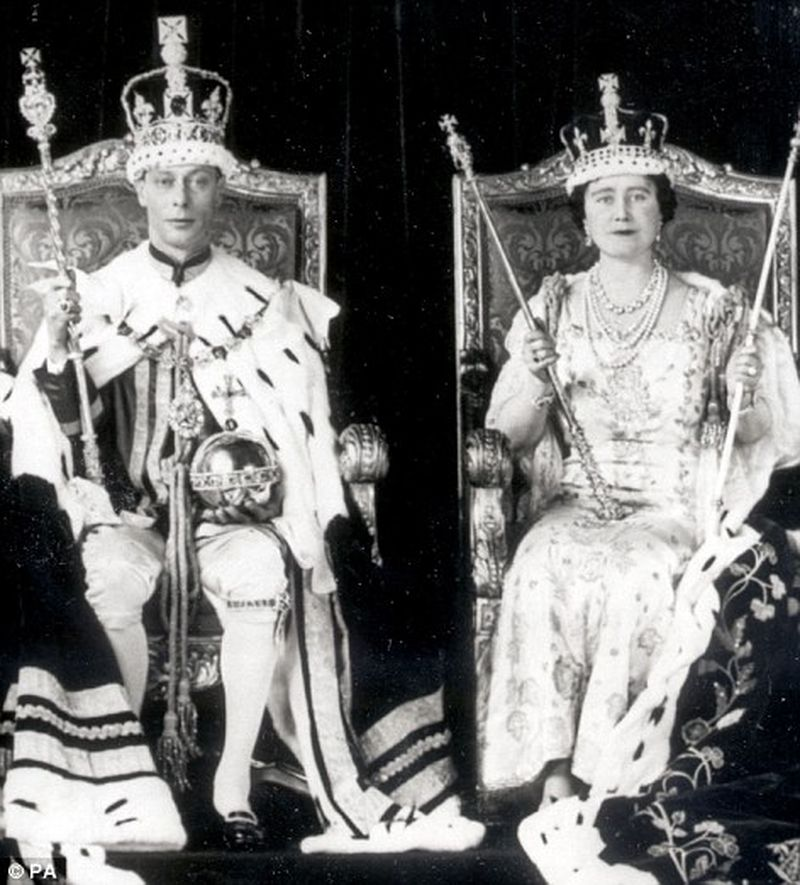 HM The King George VI and HM The Queen Elizabeth mother, Coronation Day 1937