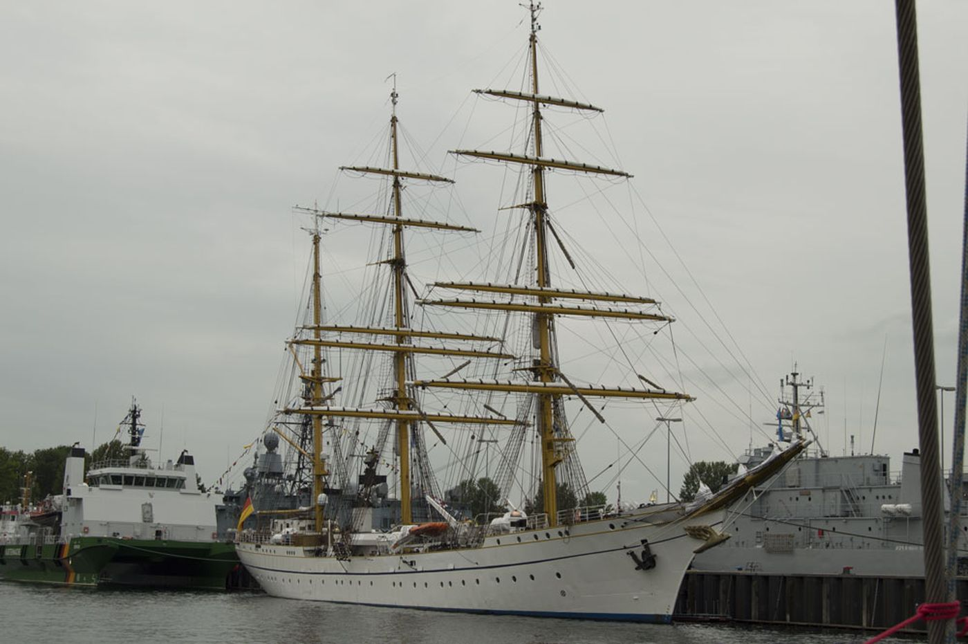 Gorch Fock II in Kiel, 27 June 2015
