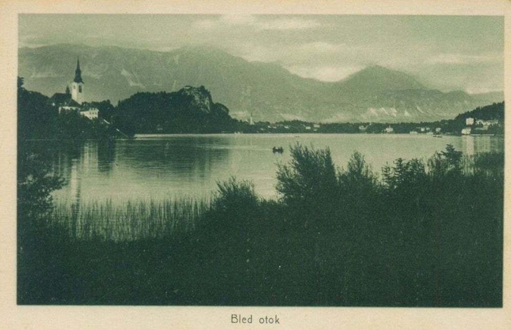 Bled lake church