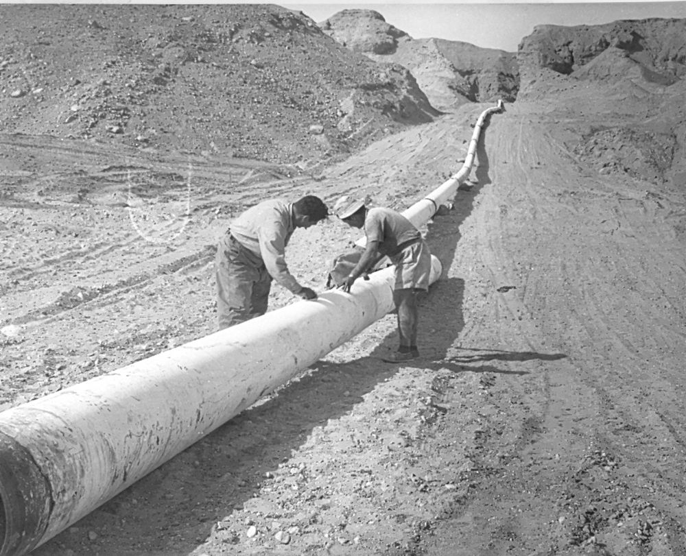 Working on the National Water Carrier project, Israel, 1960s