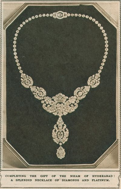 Necklace present from Nizam of Hyderabad and Berar