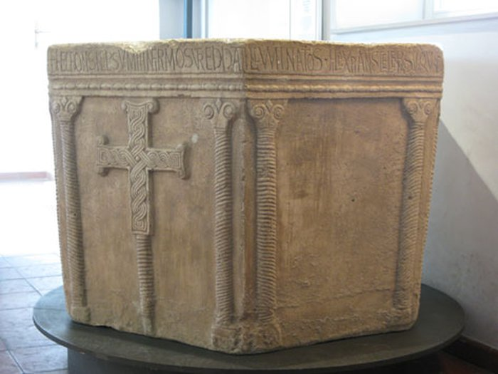 Prince Viseslav's baptisimal font with cross