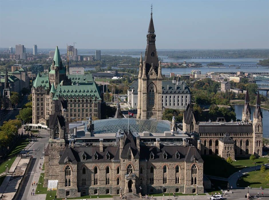 The West block of Parliament Hill